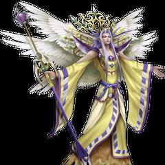 Renderização do <i>Imperador da Luz</i>, quarto uniforme do Imperador no <i>Dissidia 012 Final Fantasy</i>