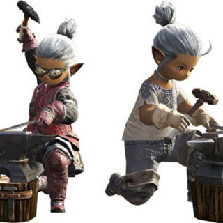 Lalafell Blacksmiths.