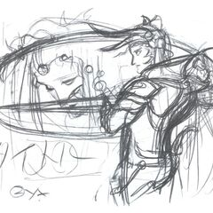 Sketch for the Japanese cover art.