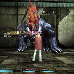 <i>Final Fantasy Type-0</i> Behemoth in battle.
