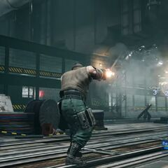 Barret in battle in State of Play trailer
