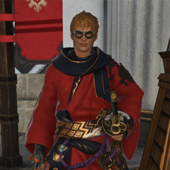 The Wandering Minstrel (samurai) in Kugane.