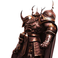 CG-изображение Голбеза из <i>Dissidia Final Fantasy</i>.
