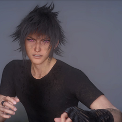 Noctis's red eyes when he summons.