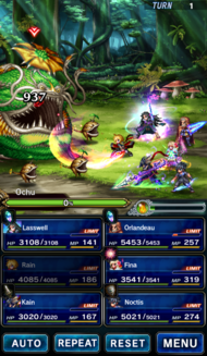FFBE Battle look