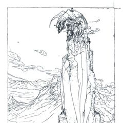 Amano art of Deist (possibly) from the novel.