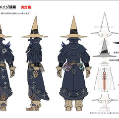Black Mage armor concept art for <i><a href=