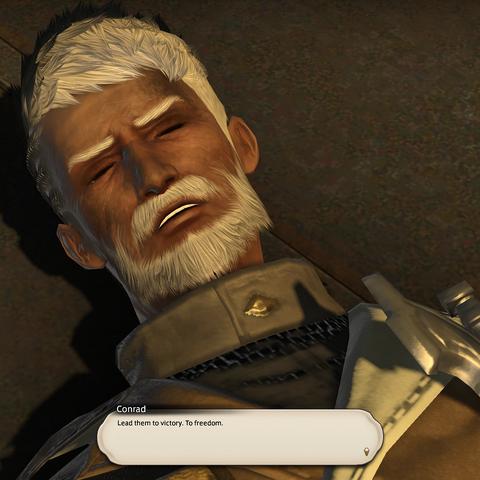 Conrad's last moment.