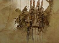 Fran with sisters (artwork)