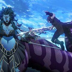 Ноктис в бою против Марилит.