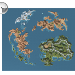 Gaia's world map (PC version).