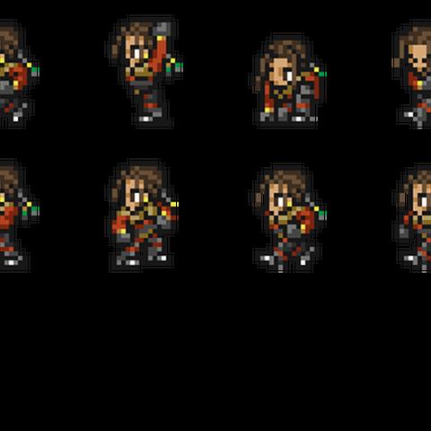 Set of Kiros's sprites.