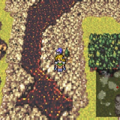 On the World Map in the World of Ruin (GBA).