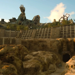 Unknown statue and Keycatrich Ruins entry.