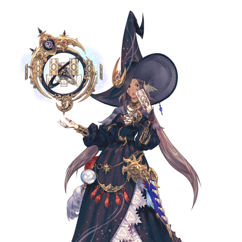 A female Auri Astrologian from <i><a href=