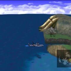 Модель на карте мира <i>Final Fantasy VII</i>.