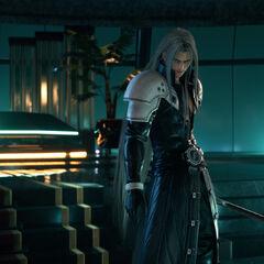 Sephiroth wielding the <a href=