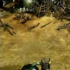Nibelheim ruins in <i>Before Crisis -Final Fantasy VII-</i>.