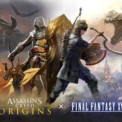 Key art featuring Bayek from <i>Assassin's Creed Origins</i> and Noctis from <i>Final Fantasy XV</i>.