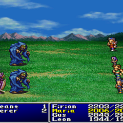 Maria under Mini status in <i>Final Fantasy II</i> (PS).