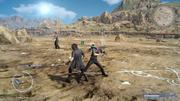 Final Trial battle Ignis daggers from FFXV
