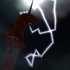 Lightning tower in <i>Final Fantasy X</i>.