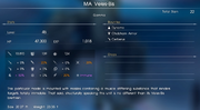 MA Veles-Bis stats in FFXV
