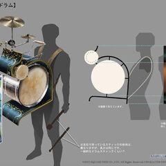 Concept art of a street musician.
