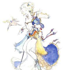 Альтернативный рисунок Терры работы Ёситаки Амано.