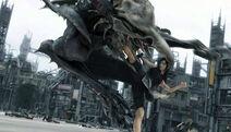 Tifa fighting
