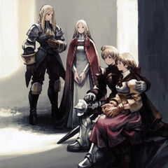 Agrias, Ovelia, Ramza and Alma