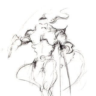 Набросок Ёситаки Амано.