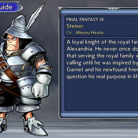 Character Guide.