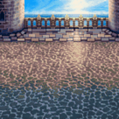 Standard castle battle background in <i><a href=