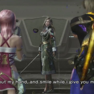 Nabaat challenging Serah and Noel.