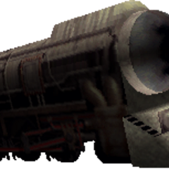Train field model in <i>Final Fantasy VII</i>.