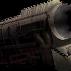 Полевая модель поезда в <i>Final Fantasy VII</i>.