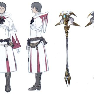 White Mage Artifact equipment concept art.