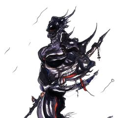 Dark Knight artwork by Yoshitaka Amano.