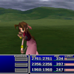 Aerith using Sense in <i><a href=