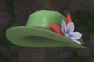 LRFFXIII Green Straw Hat