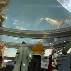 O Portão de Etro se abre sobre o céu de Eden em <i>Final Fantasy XIII</i>.