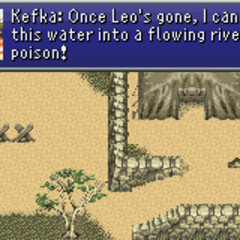 Kefka planning to exterminate Doma (GBA).