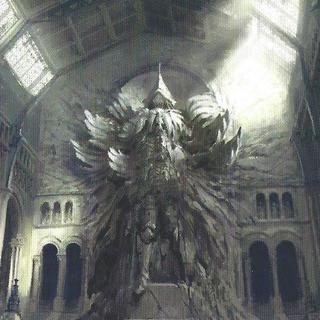 Концепт-арт арт статуи короля