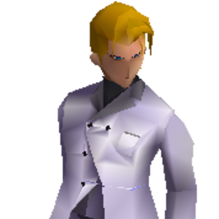 Rufus's battle model in <i>Final Fantasy VII</i>.