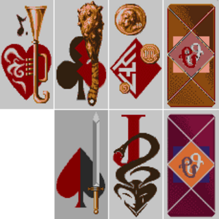 The playing cards.
