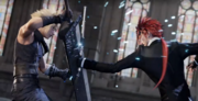 Cloud and Reno fight in FFVII Remake