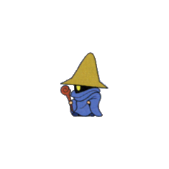 Artwork of the Black Mage job from the <i>V-Jump</i> strategy guide for the <a href=
