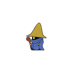 Black Mage from the V-Jump strategy guide for <i>Final Fantasy</i> (WonderSwan Color).