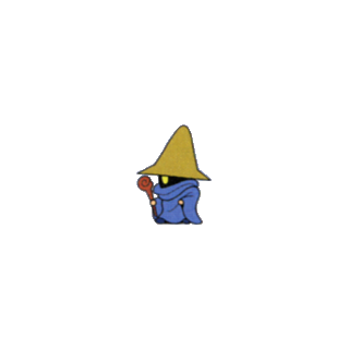 Black Mage (from <i>V-Jump</i> Strategy Guide for the Wonderswan Color).